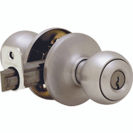 Kwikset 400P 15 CP K6 Polo Keyed Entry Lockset Satin Nickel