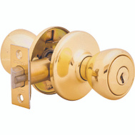 Kwikset 400T 3 CP K6 Tylo Keyed Entry Lockset Polished Brass