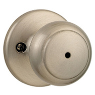 Kwikset 300CV 15 CP Cove Bed And Bath Privacy Lockset Satin Nickel