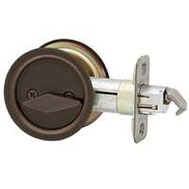 Kwikset 335 10B Pocket Door Privacy Round Pocket Door Latch Oil Rubbed Bronze