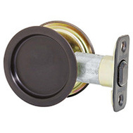 Kwikset 334 10B Pocket Door Passage Round Pocket Door Pull Oil Rubbed Bronze