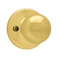 Kwikset 488P 3 Polo Half Dummy Knob Pull Polished Brass
