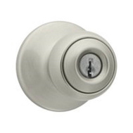 Kwikset 400P 15 RCAL RCS Polo Keyed Entry Lockset Satin Nickel