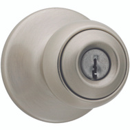 Kwikset 400P 15 6AL RCS K3 BX Polo Keyed Entry Lockset Satin Nickel