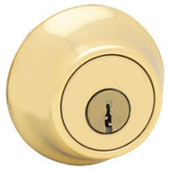 Kwikset 660 3 RCAL RCS K3 BX Security Single Cylinder Deadbolt Polished Brass