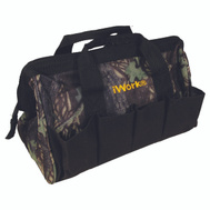 Olympia Tools 72-311 iWork 10 Pocket Camo Sport Bag With 12 Inch By 7 Inch Opening