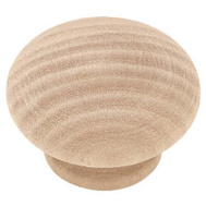 Brainerd P10513L-BIR-U 1-1/2 Inch Wood Round Cabinet Knob Birch Pack Of 2