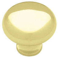Brainerd P50150L-PB-U 1-1/4 Inch Polished Brass Round Logan Style Knob 2 Pack