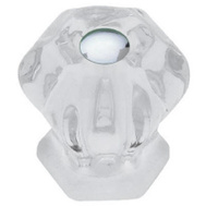 Brainerd PN0238L-CL-U 2 Pack 30Mm Clear Victorian Glass Knob
