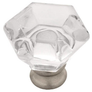 Brainerd P15573L-116-U 2 Pack 1-1/4 Clear An Stain Nickel Acrylic Knob