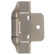 Brainerd H01915L-SN-U 2 Pack 1/2 Inch Satin Nickel Semi Hinge