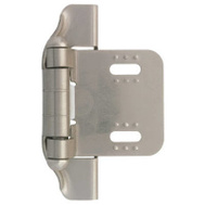 Brainerd H01911L-SN-U 2 Pack 1/4 Inch Satin Nickel Semi Hinge