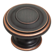 Brainerd P22669C-VBC-C 1-3/8 Inch Harmon Style Cabinet Knob Bronze With Copper Highlights Pack Of 1
