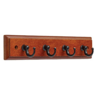 Brainerd 139632 Caramel And Bronze With Copper Highlights Key Ring Rail 4 Hook Traditional Style
