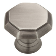 Brainerd PN0292-904-CP 1-3/16 Inch Octagon Knob Heirloom Silver Finish