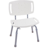 Liberty Hardware DF599 White Adjustable Tub And Shower Chair