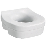 Liberty Hardware DF570 White Elevated Toilet Seat