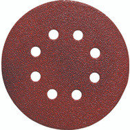 Porter Cable 725800825 5 Inch 8 Hole Adhesive Back Aluminum Oxide 80 Grit Coarse 25 Pack