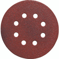Porter Cable 725801225 5 Inch 8 Hole Adhesive Back Aluminum Oxide 120 Grit Medium Fine 25 Pack
