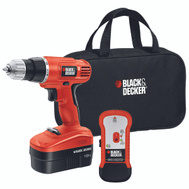 Black & Decker GCO18SFB Cordless Drill And Driver With Storage Bag And Stud Sensor 18-Volt Ni-Cad