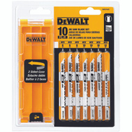 DeWalt DW3744C Universal Shank Jig Saw Blade Set With Case 10 Piece