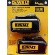 DeWalt DCB200-2 Twin Pack 20 Volt Max 3.0 Ah Lithium Ion Batteries