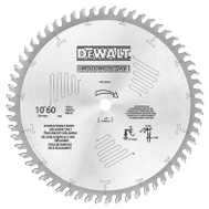 DeWalt DW71060HG 10 Inch Woodworking Saw Blade With 60 Tooth At 10 Degree Melamine