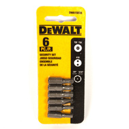 DeWalt DWA1SEC6 6 Piece Security Bit Set