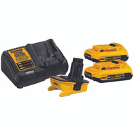 DeWalt DCA2203C 20 Volt MAX Battery Adapter Kit For 18 Volt Tools With 2 Batteries & Charger