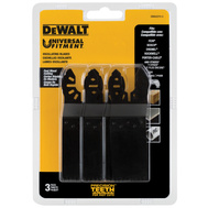 DeWalt DWA4270-3 Precision Tooth Oscillating Cutting Blade, 1-1/4In 3Pk