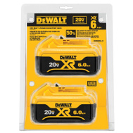 DeWalt DCB206-2 Battery Pack Li-On 20V 6.0Ah 2 Pack