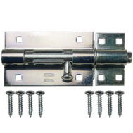 National Hardware S808-545 Stanley Extra Heavy Padlockable Barrel Bolt 5 Inch Zinc Plated Steel