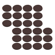 National Hardware S845-299 Stanley Medium Duty Self Adhesive Felt Pads 1/2 Inch Round Brown 24 Pack