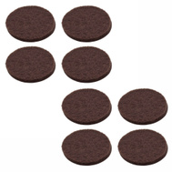 National Hardware S845-315 Stanley 1 Inch Round Medium Duty Self Adhesive Brown Felt Pads 8 Pack