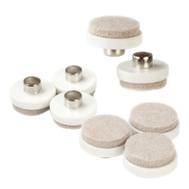 National Hardware S845-341 Stanley 1 Inch Round Felt Pads With Hollow Nail For Wood Legs 8 Pack