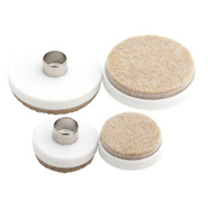 National Hardware S845-349 Stanley Round Felt Pads Hollow Nail For Wood Legs Table & Chair Set Of 20