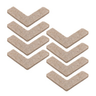 National Hardware S845-224 Stanley Heavy Duty Self Adhesive Felt Pads 1-1/2 By 1-1/2 Inch Corners Oatmeal 8 Pack