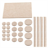 National Hardware S845-232 Stanley Heavy Duty Self Adhesive Felt Pads 27 Pieces Assorted Oatmeal