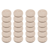 National Hardware S845-265 Stanley Heavy Duty Self Adhesive Felt Pads 1-1/2 Inch Round Oatmeal 24 Pack