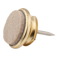 National Hardware S845-364 Stanley Nail On Felt Pads With Brass Swivels 1 Inch 4 Pack