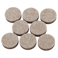 National Hardware S845-414 Stanley 1 Inch Self Adhesive Foam Backed Self Leveling Oatmeal Floor Saver Felt Pads 8 Pack
