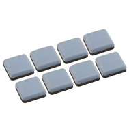 National Hardware S845-539 Stanley Self Adhesive Furniture Sliders 15/16 Inch Square Gray 8 Pack