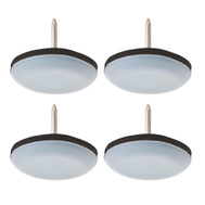 National Hardware S845-547 Stanley Nail On Furniture Sliders 1-3/16 Inch Gray 4 Pack