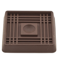 National Hardware S845-630 Stanley Rubber Grip Caster Cups 2 Inch Square Brown 4 Pack