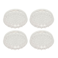 National Hardware S845-638 Stanley Spiked Furniture Cups 2 Inch Round Clear 4 Pack