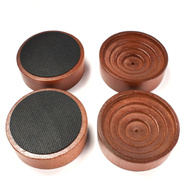 National Hardware S845-687 Stanley Rubber Grip Caster Cups 2-1/4 Inch Round Brown Woodgrain 4 Pack