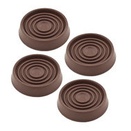 National Hardware S845-695 Stanley Rubber Grip Caster Cups 1-3/4 Inch Round Brown 4 Pack