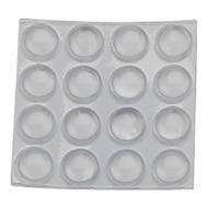 National Hardware S845-820 Stanley Self Adhesive Flat Round Vinyl Bumper Pads 3/8 Inch Clear 16 Pack