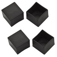 National Hardware S846-024 Stanley 1 Inch Square Black Vinyl Leg Tip 4 Pack