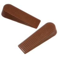 National Hardware S845-240 N225-987 Stanley Traditional Wedge Door Stops 1-1/4 By 4 Inch Brown 2 Pack
